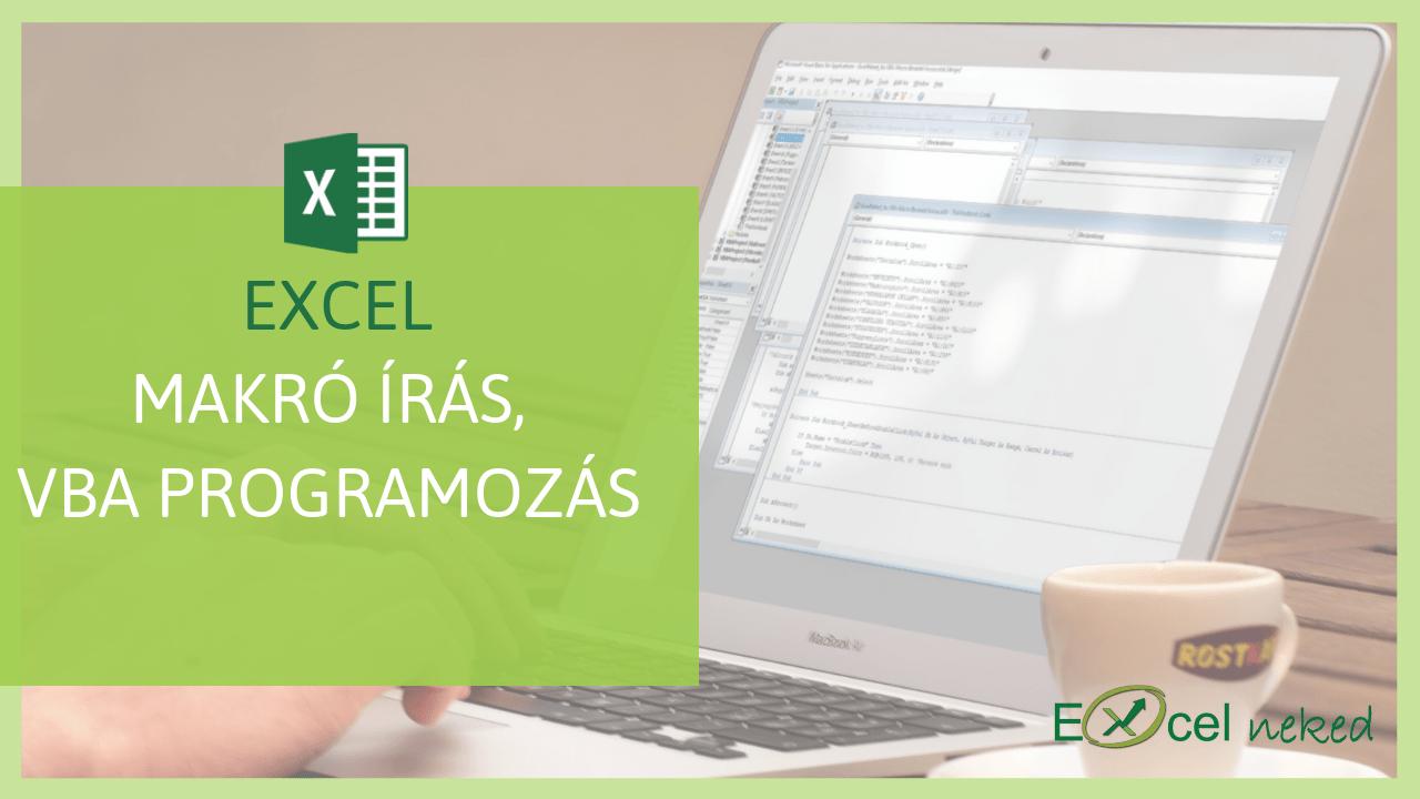 Excel makró online tanfolyam