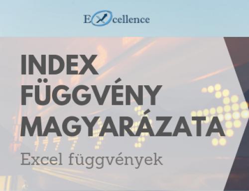 INDEX függvény magyarázata