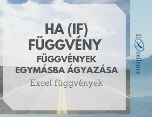 HA (IF) függvény – függvények egymásba ágyazása