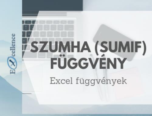 SZUMHA függvény (SUMIF függvény) a vállalati életben