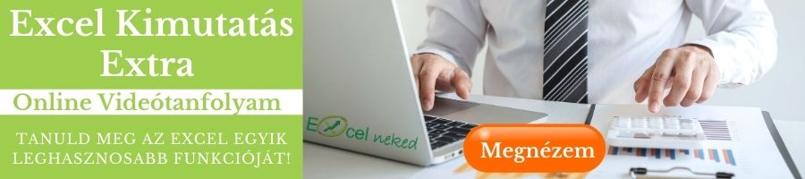 Online Excel kimutatás tanfolyam