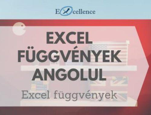 Excel függvények angol és magyar nevei