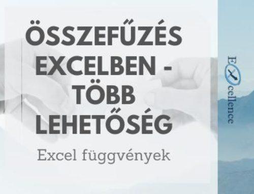 Összefűzés Excelben – Több lehetőség