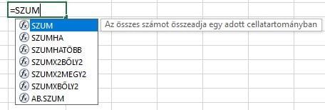 Excel függvények kezdőknek