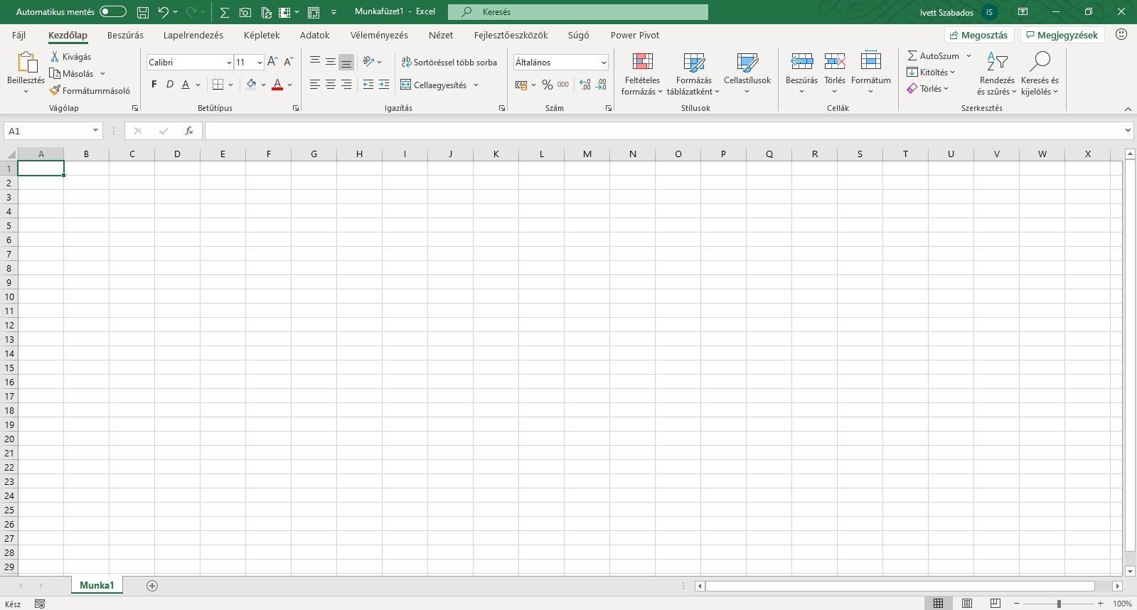 Excel alapok