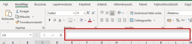 Excel adatbevitel