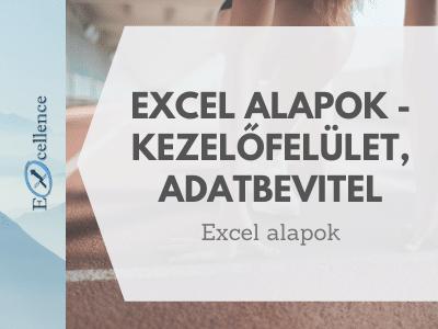 Excel kezelőfelület